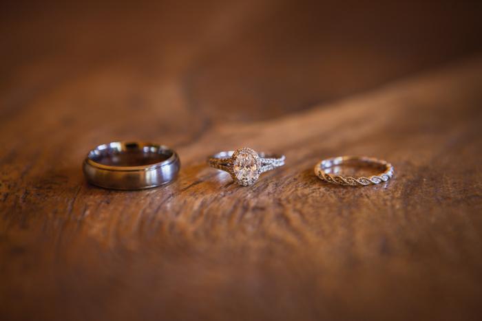 destination wedding rings details