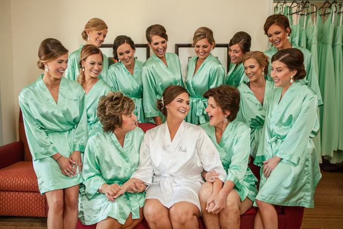 matching bridesmaids robes marriott