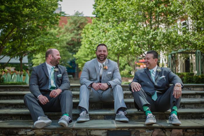the green charlotte, uptown wedding, green argyle socks