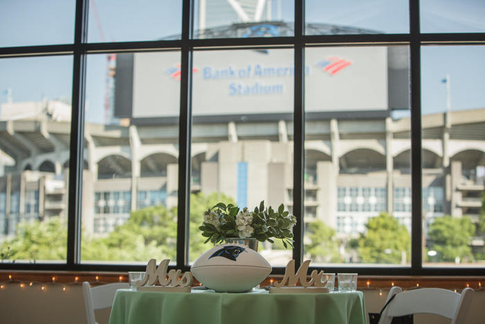 Roof with a View, charlotte wedding venue, uptown skyline, carolina panthers