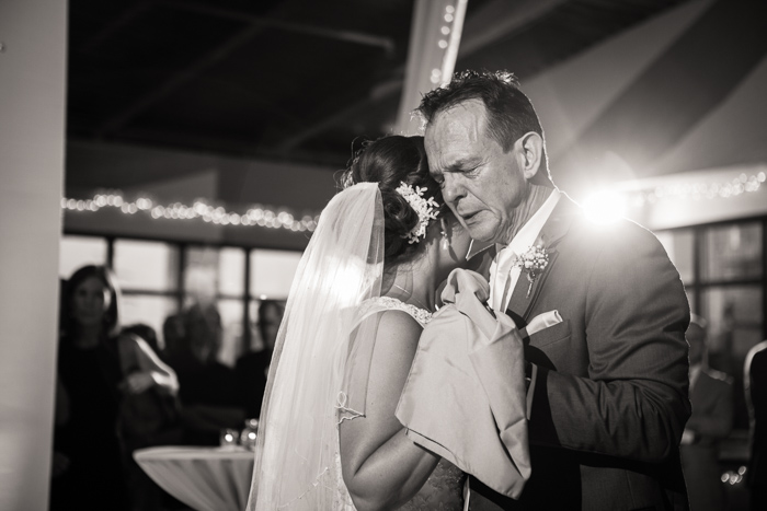 emotional first dance, father daughter dance, wedding photojournalism
