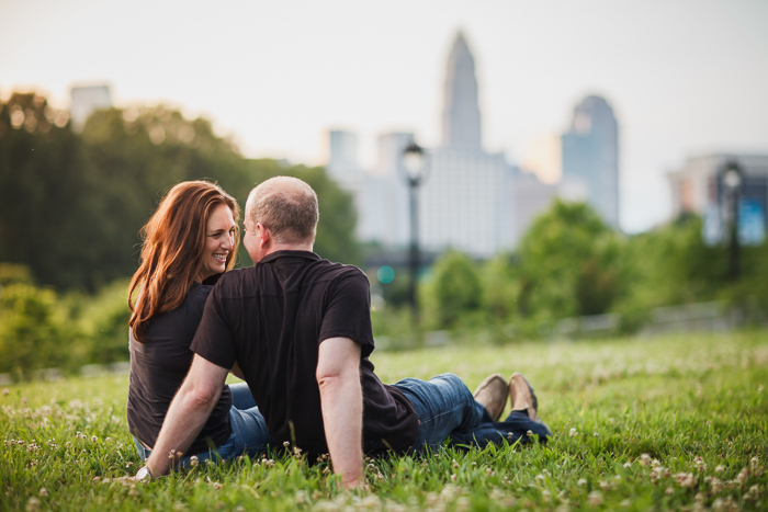 engagement photography charlotte skyline