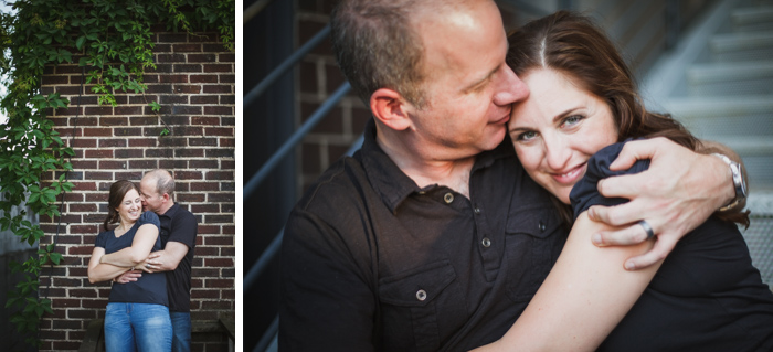Dilworth engagement session, brick wall with ivey